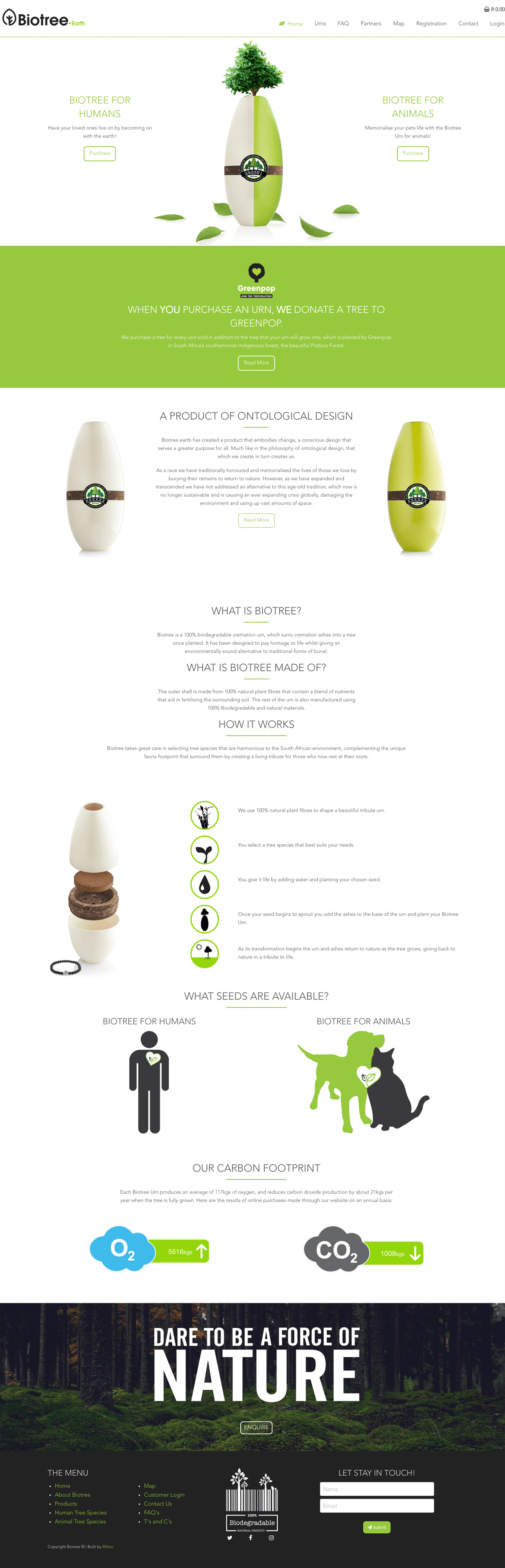 Biotree website by Billow