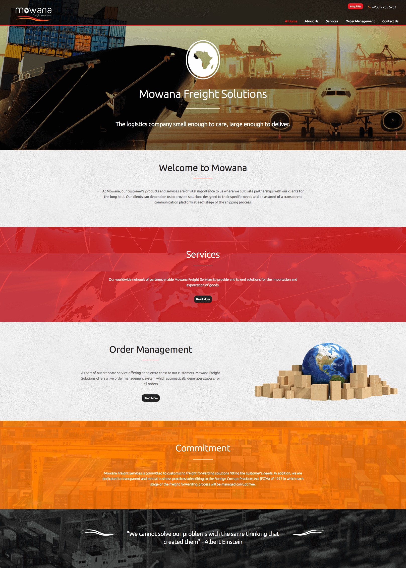 Mowana website by Billow