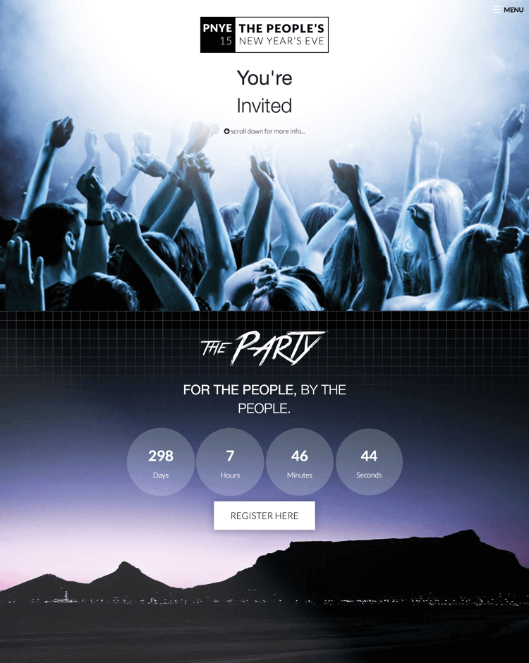 PNYE website by Billow