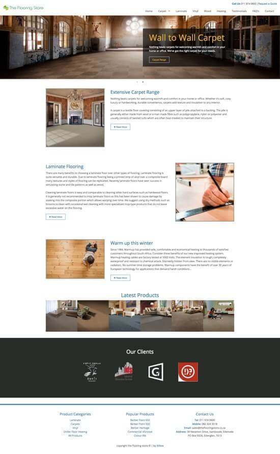 The Flooring Store Website by Billow
